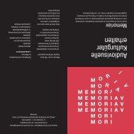 Booklet Memoriav