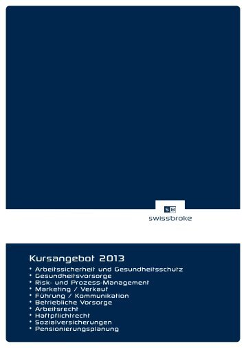 Kursprogramm 2013 - swissbroke