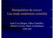 Etude randomisée et contrôlée des manipulations du ... - sofmmoo