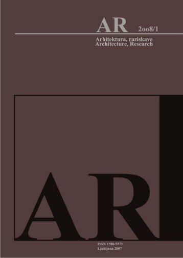 Revija 2008/1 v PDF - Fakulteta za arhitekturo - Univerza v Ljubljani