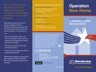 Operation New Home Brochure - Maine State Housing Authority