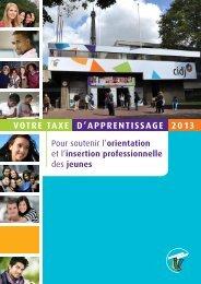 plaquette Taxe d'apprentissage 2013 - Cidj