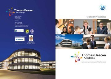 6th Form Prospectus.pdf - Parents Portal Home - Deacon's School