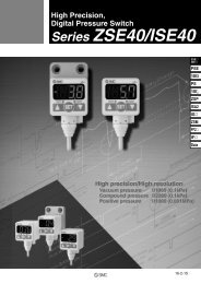 High Precision, Digital Pressure Switch Series ZSE40/ISE40 - DigiKey