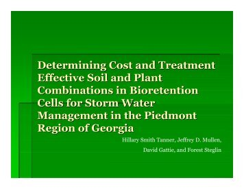 Determining Cost and Treatment Effective Soil and Plant ...