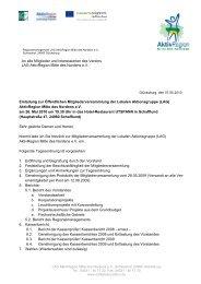 Einladung zur Öffentlichen Mitgliederversammlung - AktivRegion ...