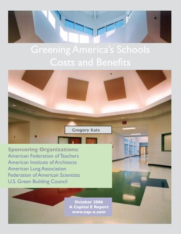 Greening America's Schools Costs and Benefits - Science ...