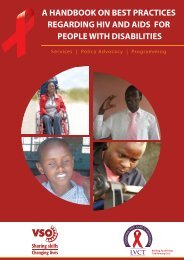 Handbook on best practices for including disability in HIV ... - CBM