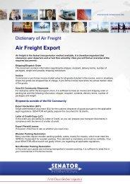 Air Freight Export - Senator International