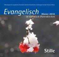 Stille - evangelische Kirchengemeinden Garmisch-Partenkirchen
