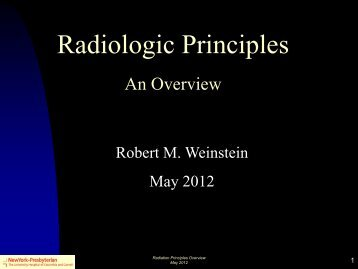 Radiation Principles