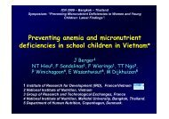 Preventing anemia and micronutrient deficiencies in school children ...