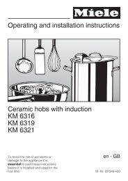 Operating Instruction (PDF) - Miele