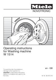 Operating instructions for Washing machine W 1514