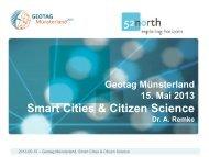 Smart Cities & Citizen Science - Geonetzwerk Münsterland
