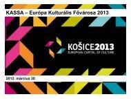 Kassa - Európa Kulturális fővárosa 2013 - Miskolc