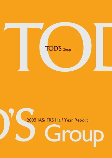2009 IAS/IFRS Half Year Report - Tod's