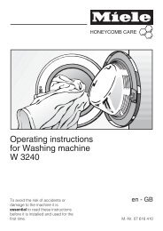 Operating instructions for Washing machine W 3240