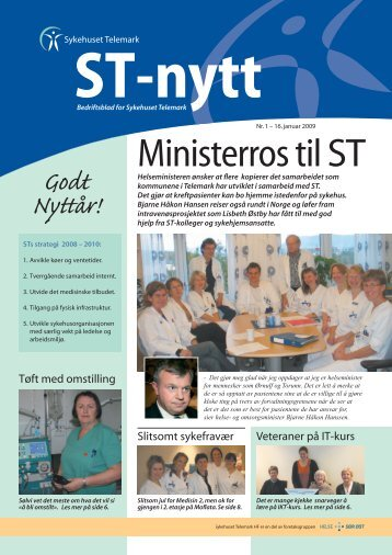 ST-nytt nr. 1, 2009 - Sykehuset Telemark