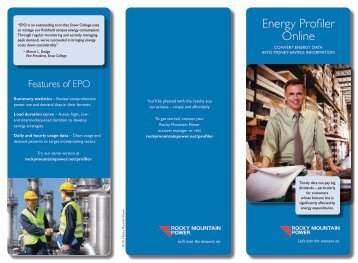 Energy Profiler Online Brochure - Rocky Mountain Power