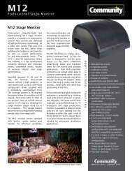 M12 Stage Monitor - Community Professional Loudspeakers