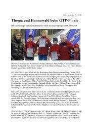 Thoma und Hannawald beim GTP-Finale - Skiclub Hinterzarten