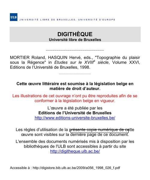 Offerte à Maurice Barthélemy Université Libre De Bruxelles