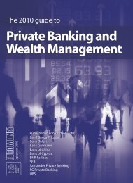 The 2010 Guide To Private Banking And Wealth ... - Euromoney