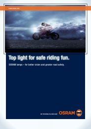 Top light for safe riding fun. - Osram