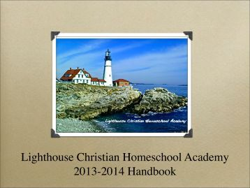 Lighthouse Christian Homeschool Academy - Homeschool-Life.com