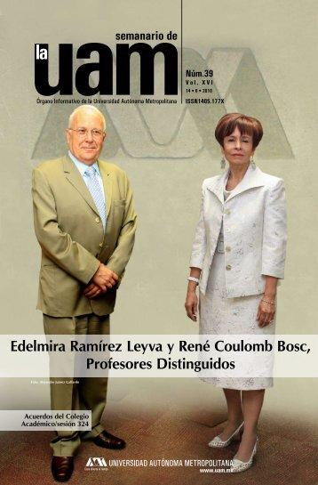 Edelmira Ramírez Leyva y René Coulomb Bosc, Profesores - UAM ...