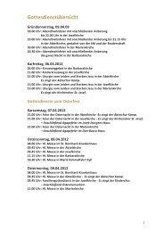 Gottesdienstübersicht - Katholische Pfarrgemeinde St. Josef - Kamp ...