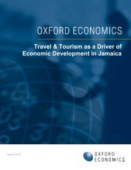 Travel & Tourism as a Driver of Economic Development in Jamaica