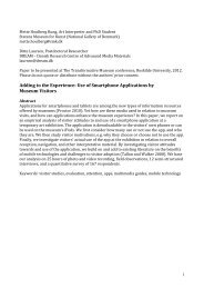 Adding to the Experience: Use of Smartphone Applications by ...