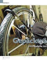 14 Modelle im Labortest - Velotech.de