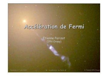 Accélération de Fermi - APC