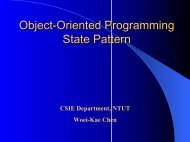 Object-Oriented Programming State Pattern