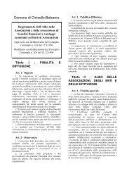 istanza per la concessione di contributo per l'attivita' - Comune di ...