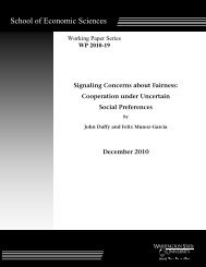 Working Paper 2010-19 - Washington State University