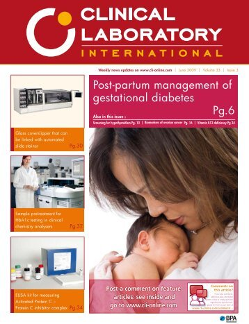 Post-partum management of gestational diabetes Pg.6