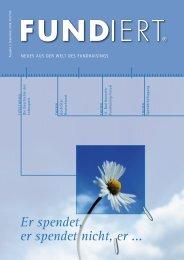 FUNDiert 3.2008 - GFS Fundraising & Marketing GmbH