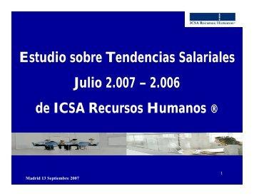 Estudio de Tendencias Salariales Julio 2007 - Aedipe