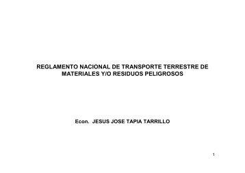 reglamento de transporte terrestre de materiales y/o residuos ...