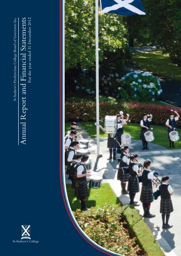 StAC Annual Report 2012 - St Andrew's College
