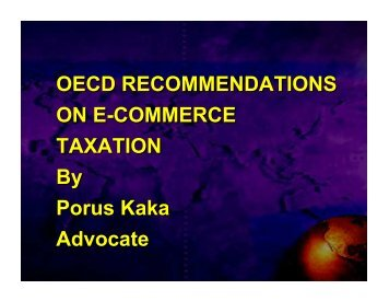 OECD RECOMMENDATIONS ON E-COMMERCE TAXATION By ...