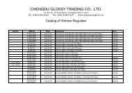 Window Regulator For Audi & VW - ChengDu Glossy Trading Co., Ltd.