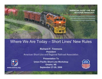 Where We Are Today – Short Lines' New Rules - American Short ...