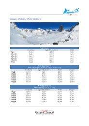 Skipass Preise 2010-2011 - KANIN-SELLA NEVEA