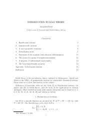 INTRODUCTION TO KAM THEORY Contents 1. Hamiltonian ...