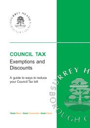 COUNCIL TAX Exemptions and Discounts - Surrey Heath Borough ...